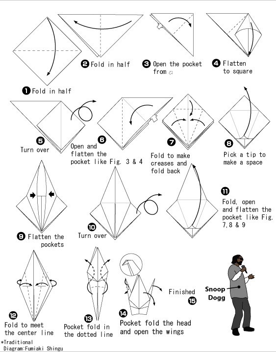 how to fold paper crane