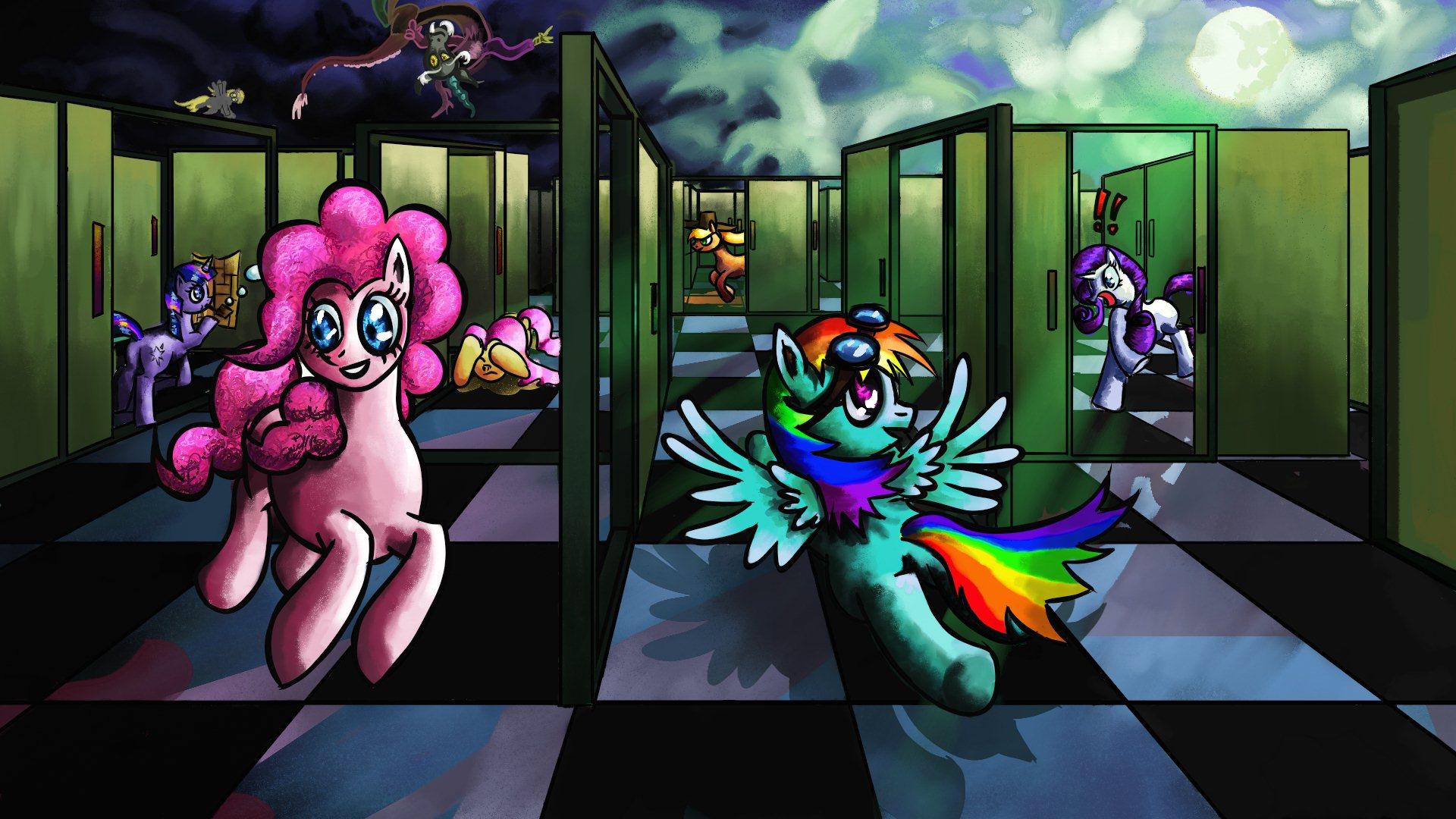 Hide and seek in a maze of doors my little pony for My little magic door