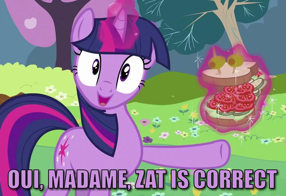 Twilight Channels Madame La Flour My Little Pony