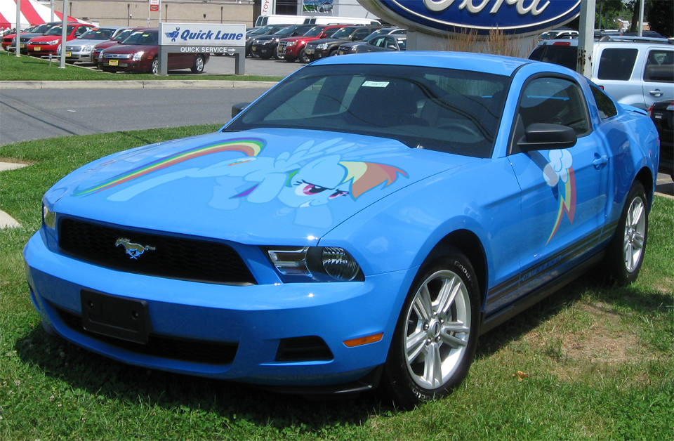 Rainbow Dash 2010 Ford Mustang My Little Pony