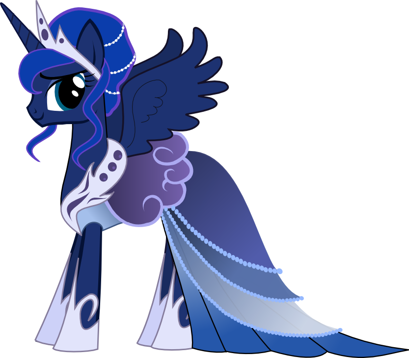 Princess Luna Gala Dress My Little Pony Friendship Is Magic Know Your Meme