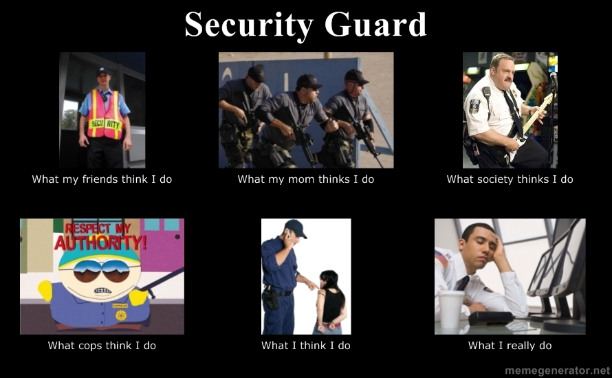 Security Guard What People Think I Do Really