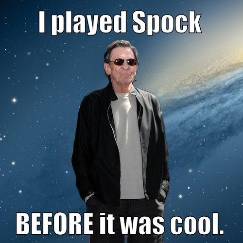 Star Trek Spock Meme hipster nimoy   Star T...