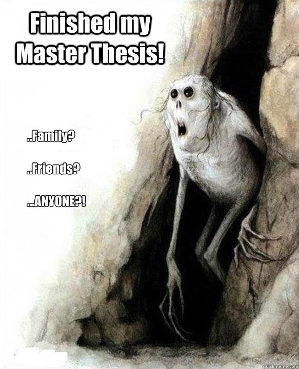 Not finished masters thesis