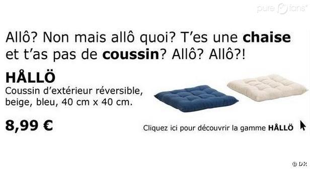 French ikea ad allo t 39 es une chaise et t 39 as pas de coussin q - Coussin de chaise ikea ...