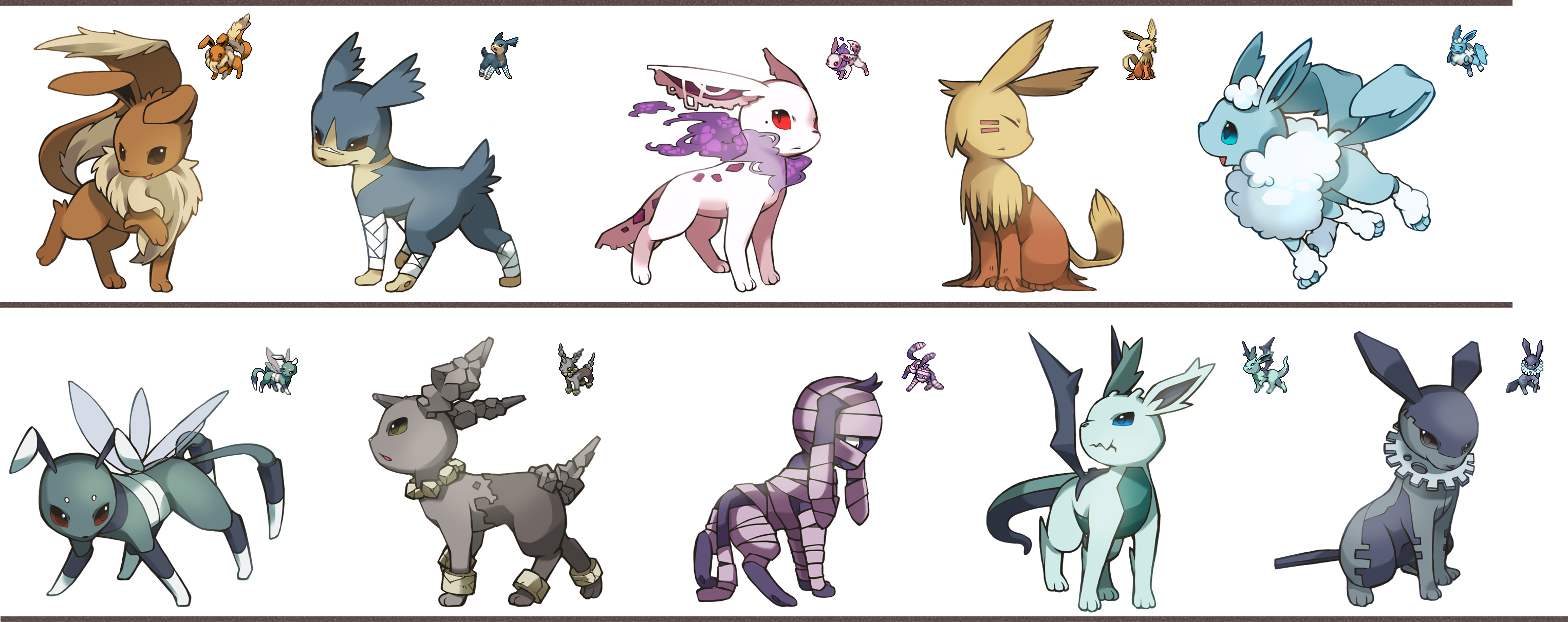 Fake Eeveelutions Fakemon Know Your Meme