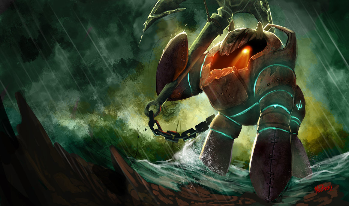 8chan Wallpaper: Nautilus From League Of Legends Ponified