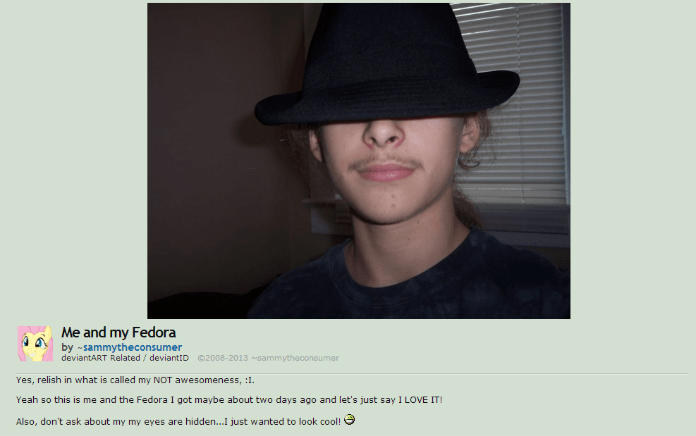 Fedora neckbeard mlady