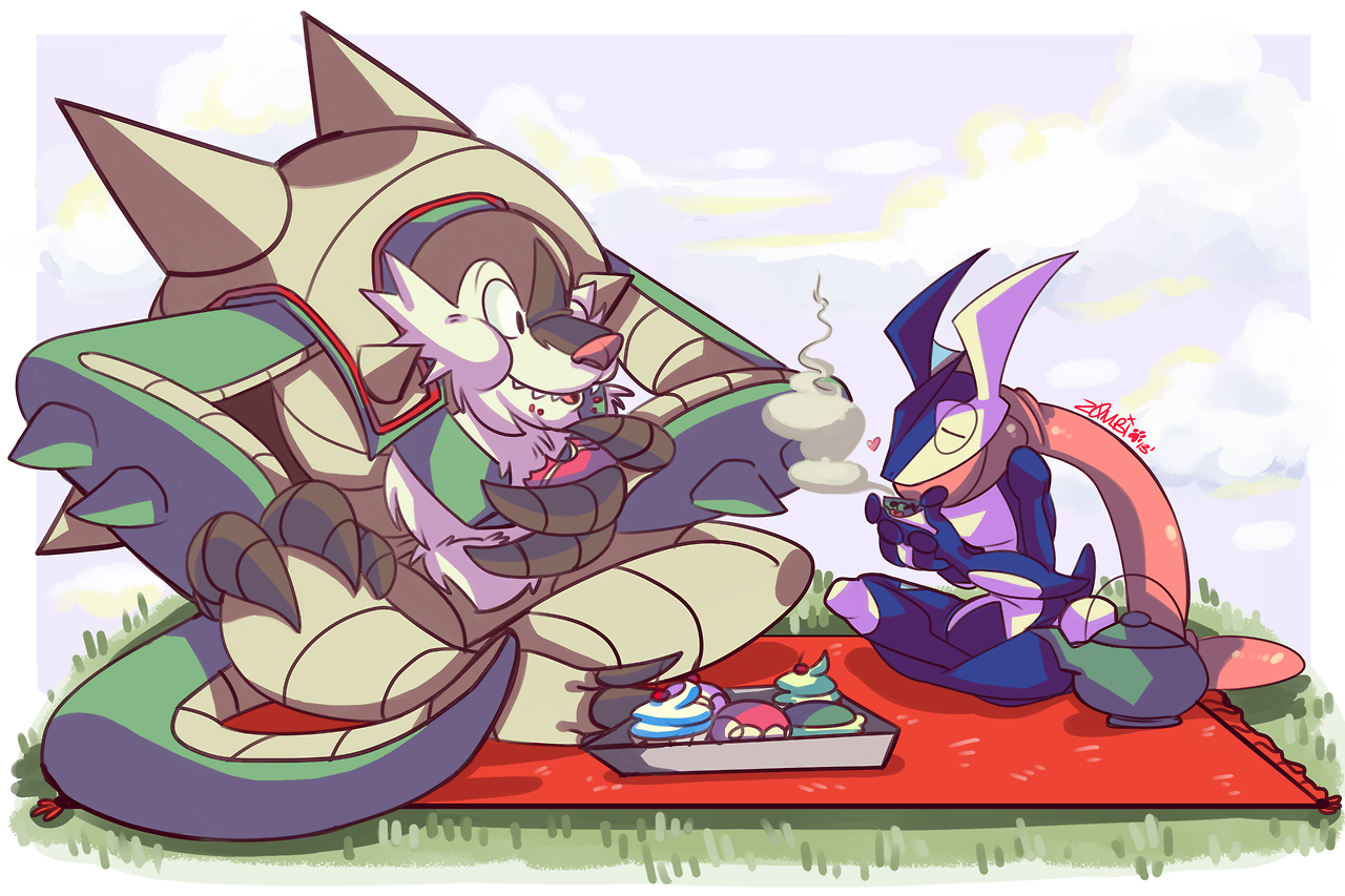 Chesnaught And Greninja On A Picnic Pokemon Know Your Meme
