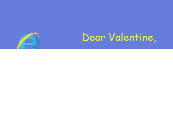 Internet Explorer Valentine