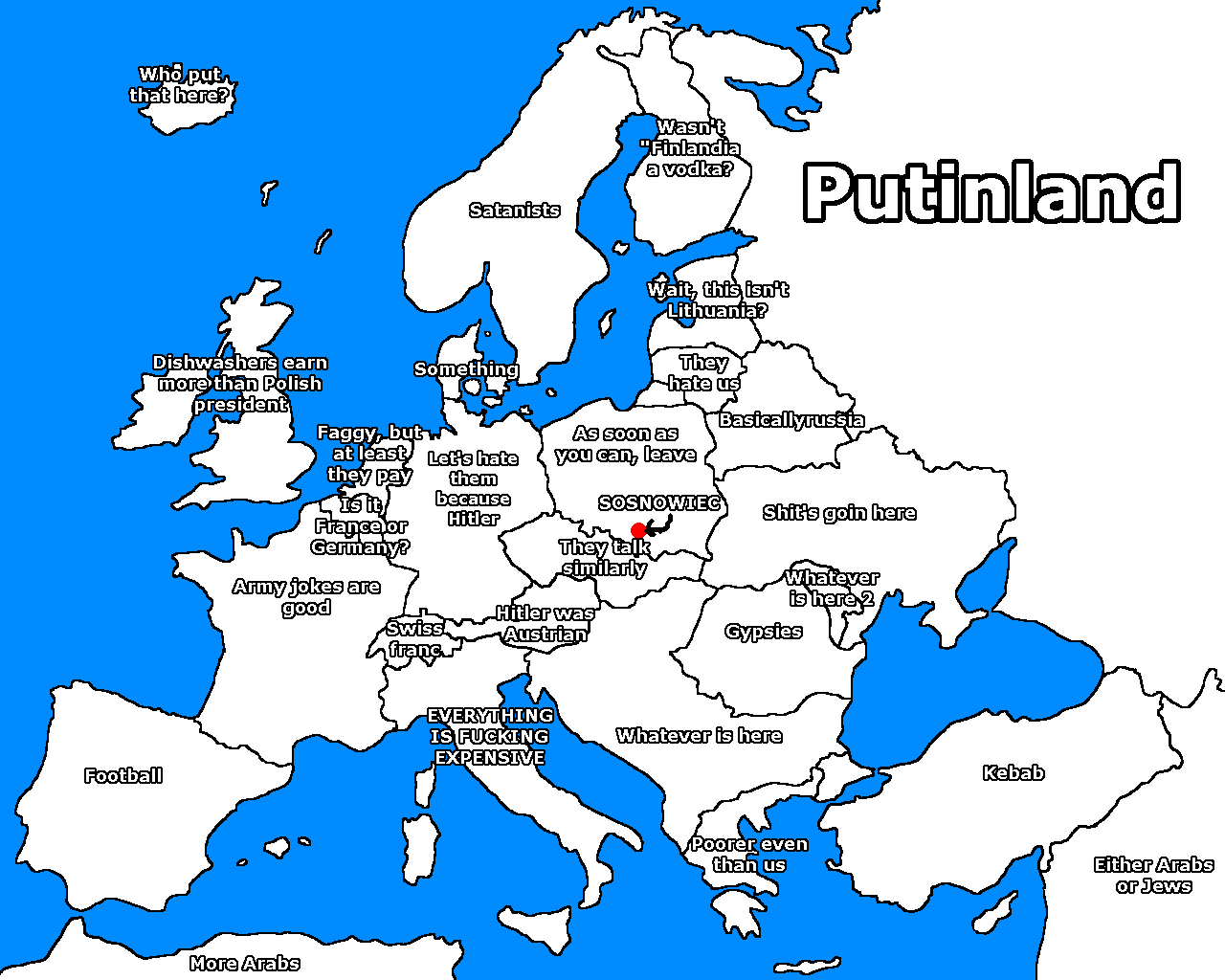 Europe according to the Polish | Nationality Stereotypes ...