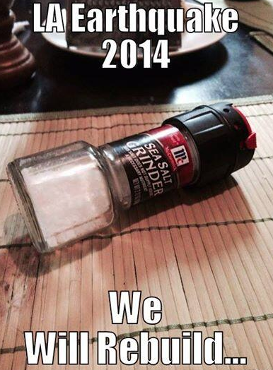 We Will Rebuild Spices 2014 California Earthquakes