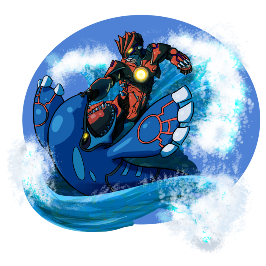Groudon mk i vs category 5 kaiju kyogre pokemon know your meme - Pictures of groudon and kyogre ...