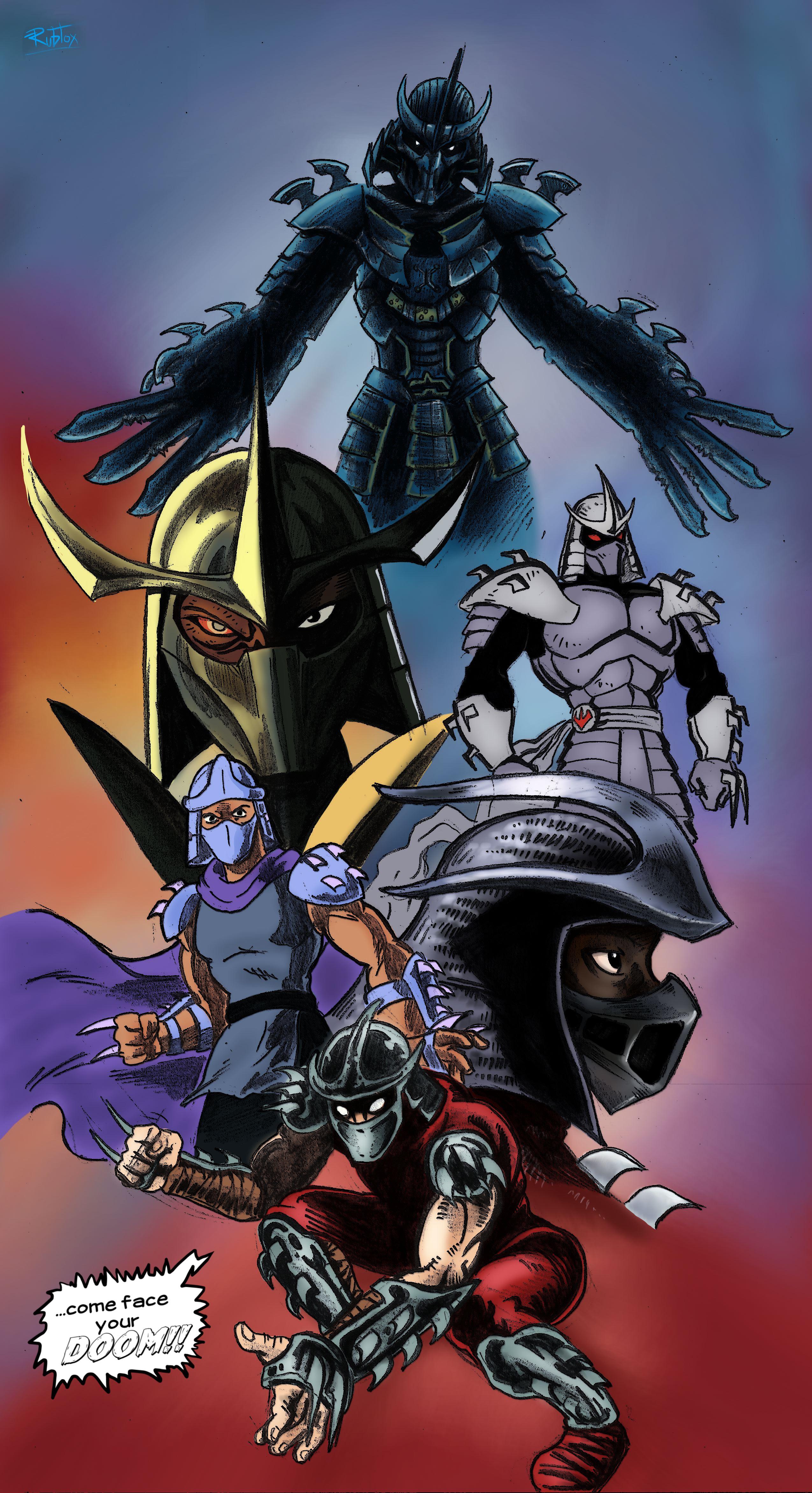 a tribute to the shredder teenage mutant ninja turtles