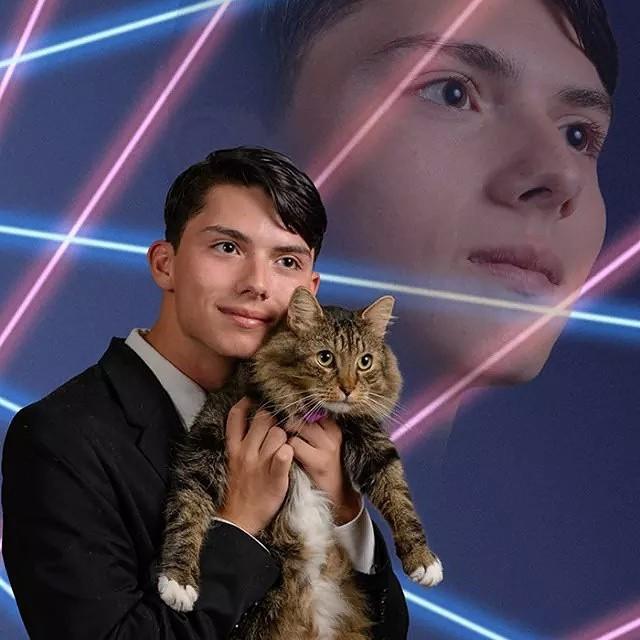 Laser Cat Meme Guy Dead