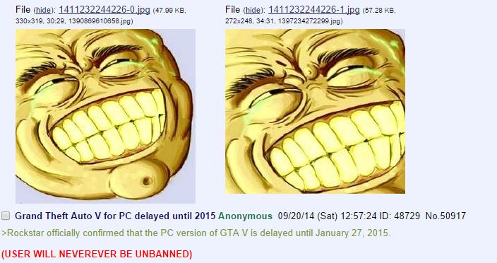 8chan: 8chan Cracking Down On Goldenface Garbage
