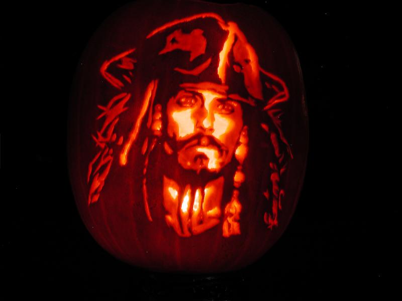 Captain jack sparrow pumpkin carving art know your meme