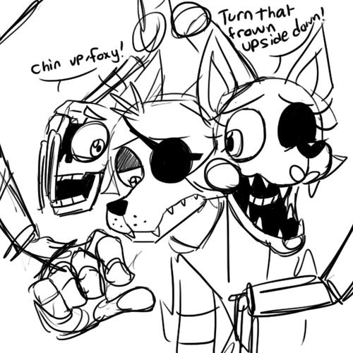 Adventure Bonnie Kleurplaat Depressed Foxy Five Nights At Freddy S Know Your Meme
