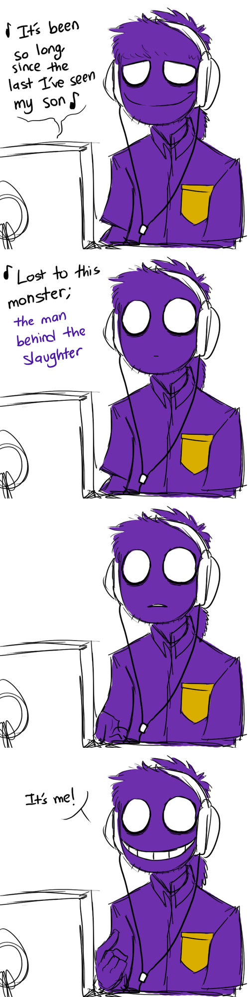 Five nights at freddy s if purple guy stumbled upon tlt s quot it s been