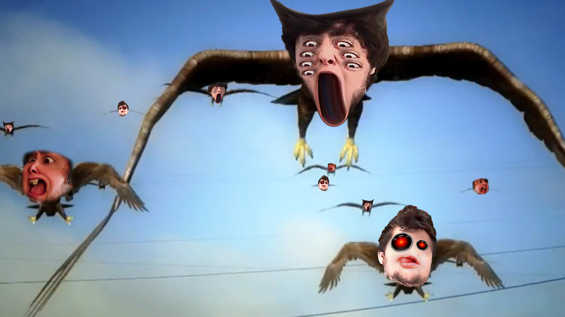 jon tron as every bird in birdemic