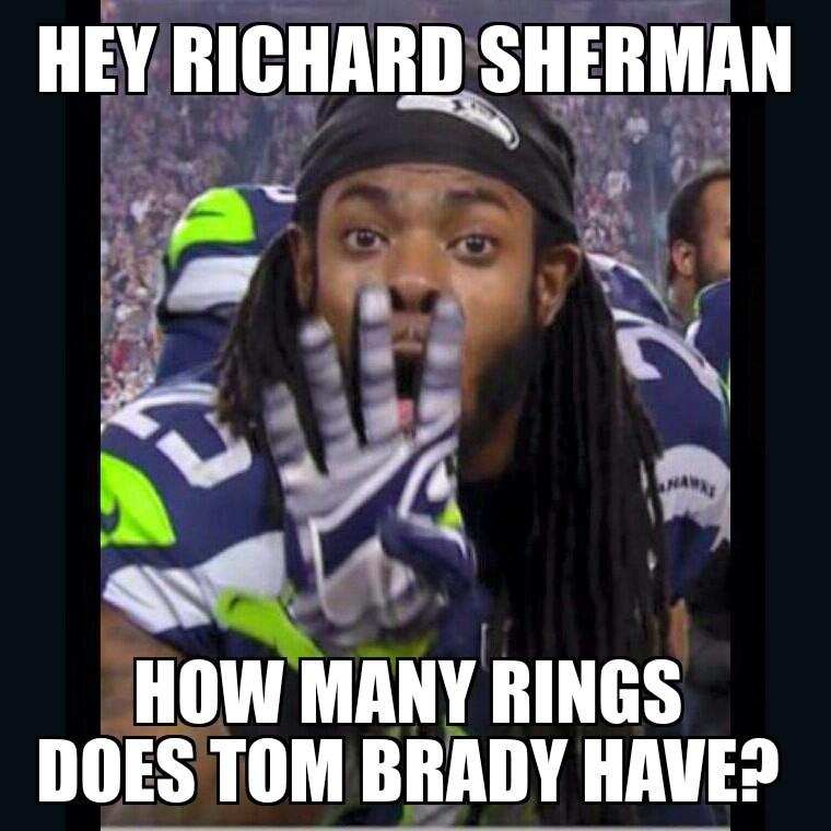 How Many Rings Does Tom Brady Have Sherman