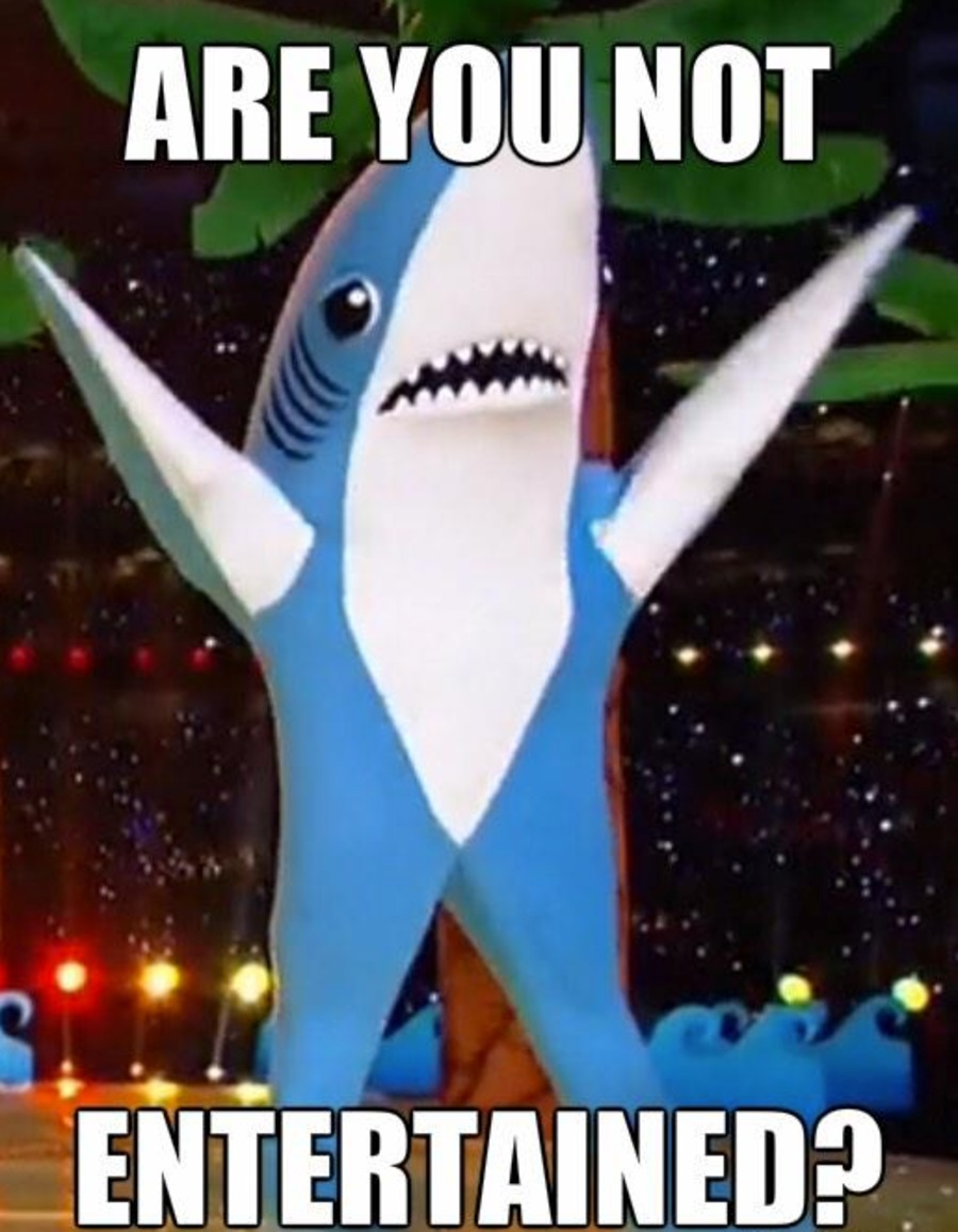 Left Shark Entertainment | Are You Not Entertained? | Know ...