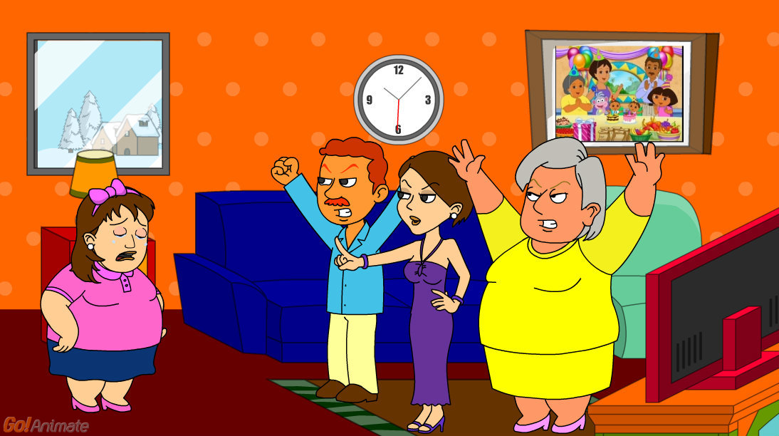 Dora Gets Fat At Jollibee And Gets Grounded Grounded
