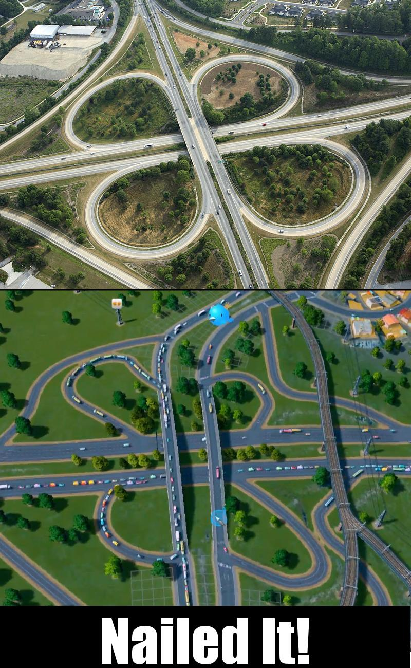 Cities:Skylines Intersections | Nailed It | Know Your Meme