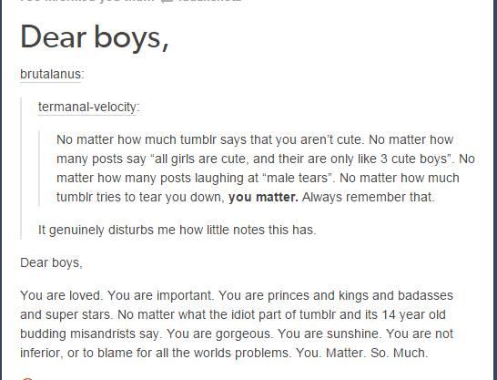 Dear Boys Tumblr Know Your Meme
