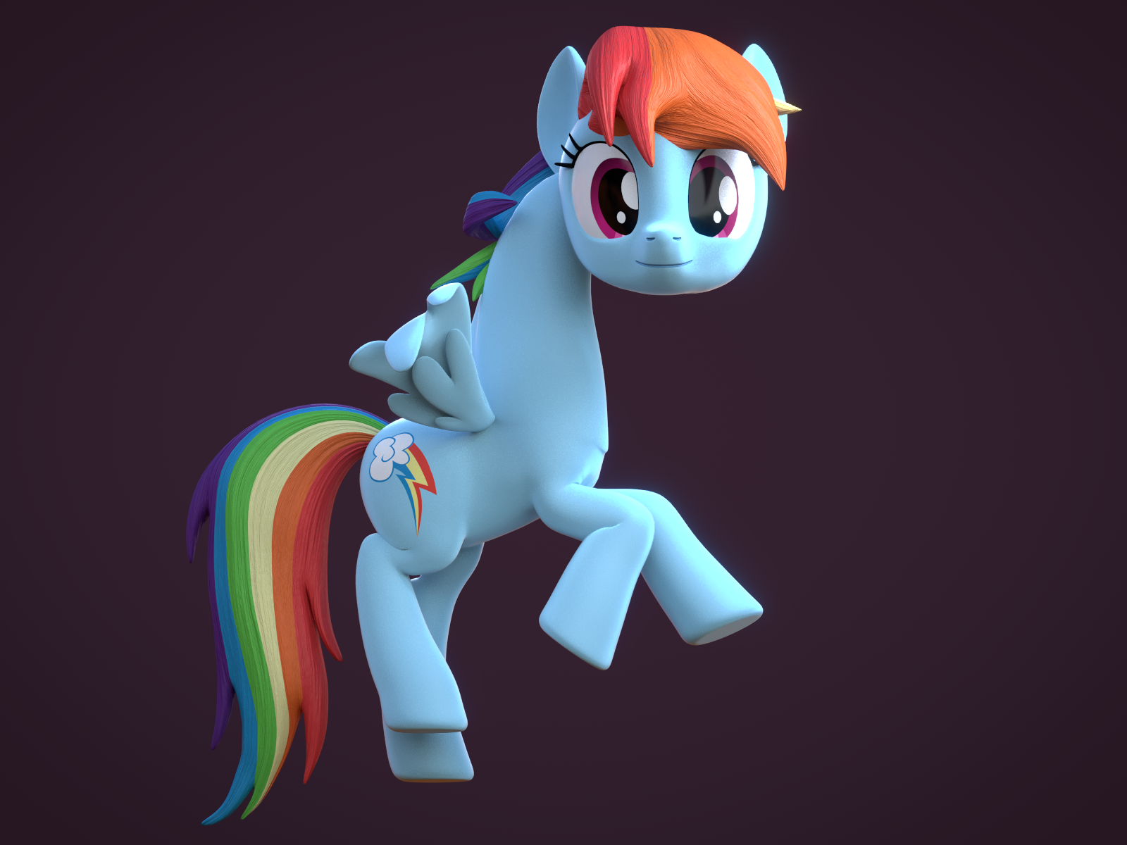 3d Rainbow Girrash My Little Pony Friendship Is Magic