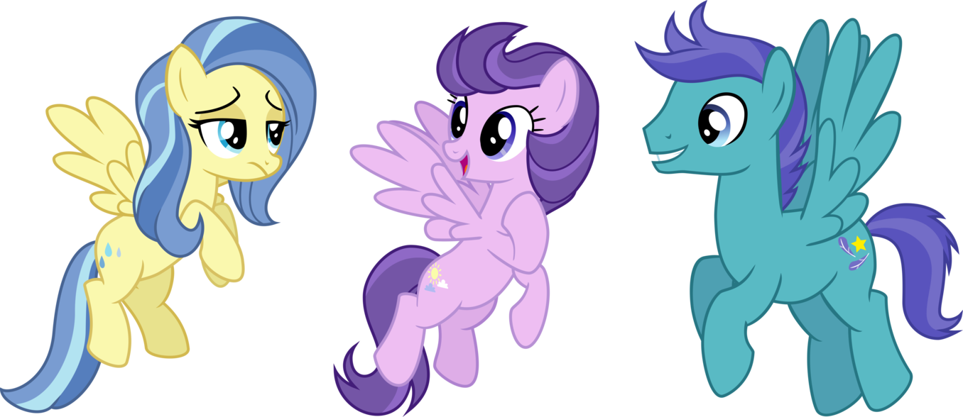 The pegasus trio from Tanks for the Memories  My Little Pony Friendship is  # Sunshower Mlp_175524
