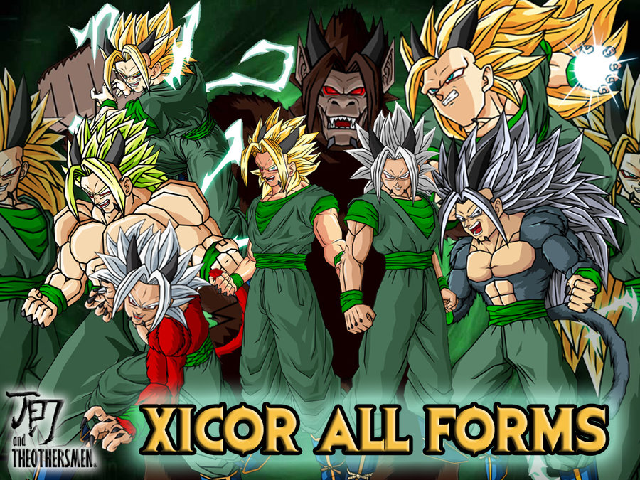 Xicor All Forms by Dairon11   Dragon Ball AF / Dragon Ball ...  Xicor All Forms...