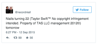 recordniall's tweet | Taylor Swift™ No Copyright ...