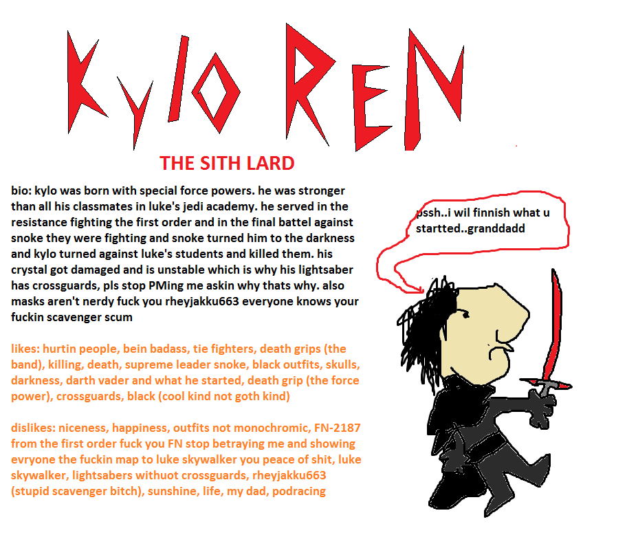 Kylo Ren The Sith Lard | Coldsteel The Hedgeheg | Know ...
