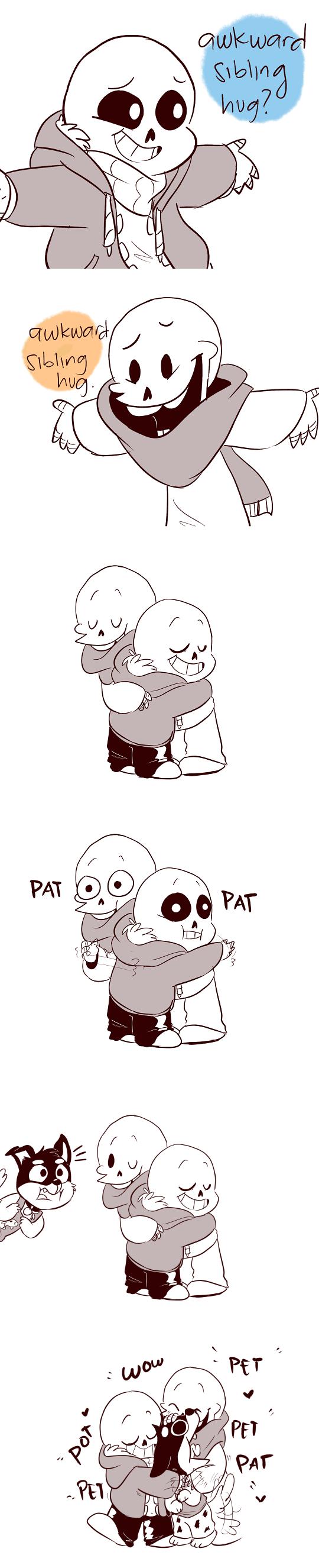 awkward sibling hug undertale know your meme