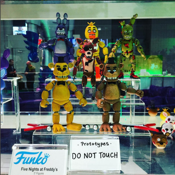 Fnaf Action Figure Prototypes From Toyfair Five Nights