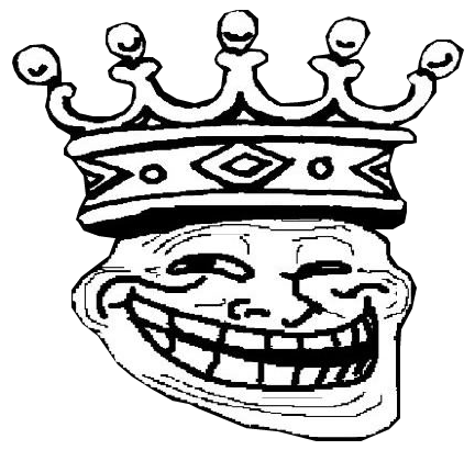 Trollface King Transparent | Trollface / Coolface ...
