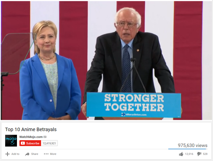 Top 10 Anime Betrayals | Bernie Sanders | Know Your Meme  |Anime Betrayal Bernie Sanders