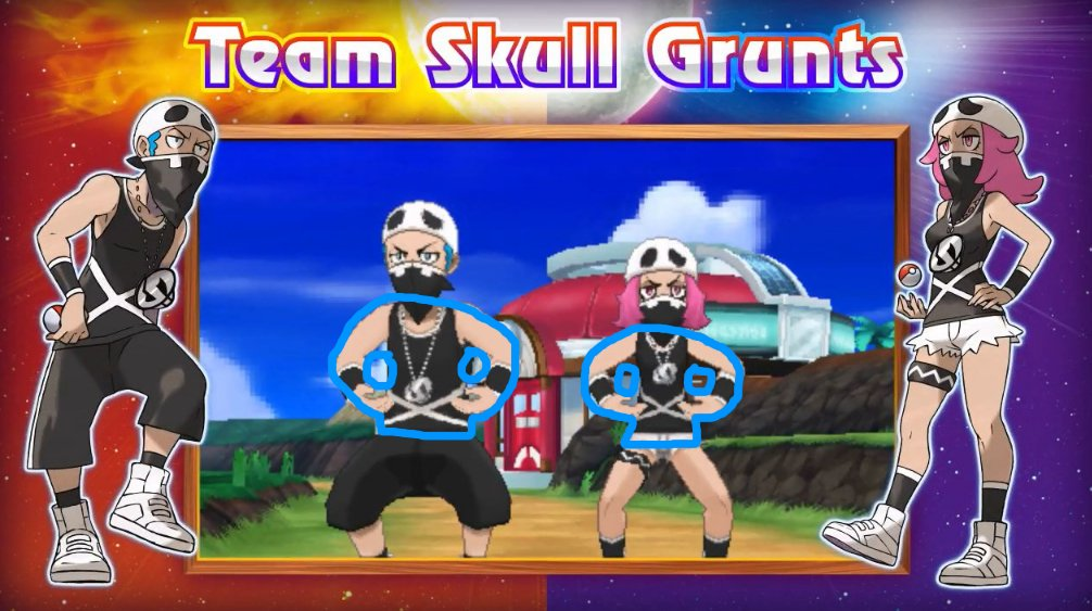Pokémon Villain: Team Skull / Characters - TV Tropes