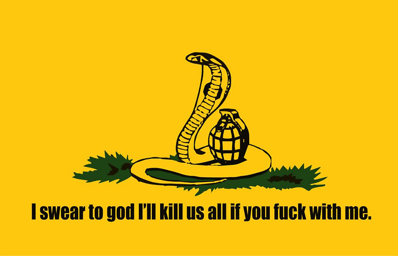 The Grenade Is Armed, By The Way. | Gadsden Flag / Don't ...