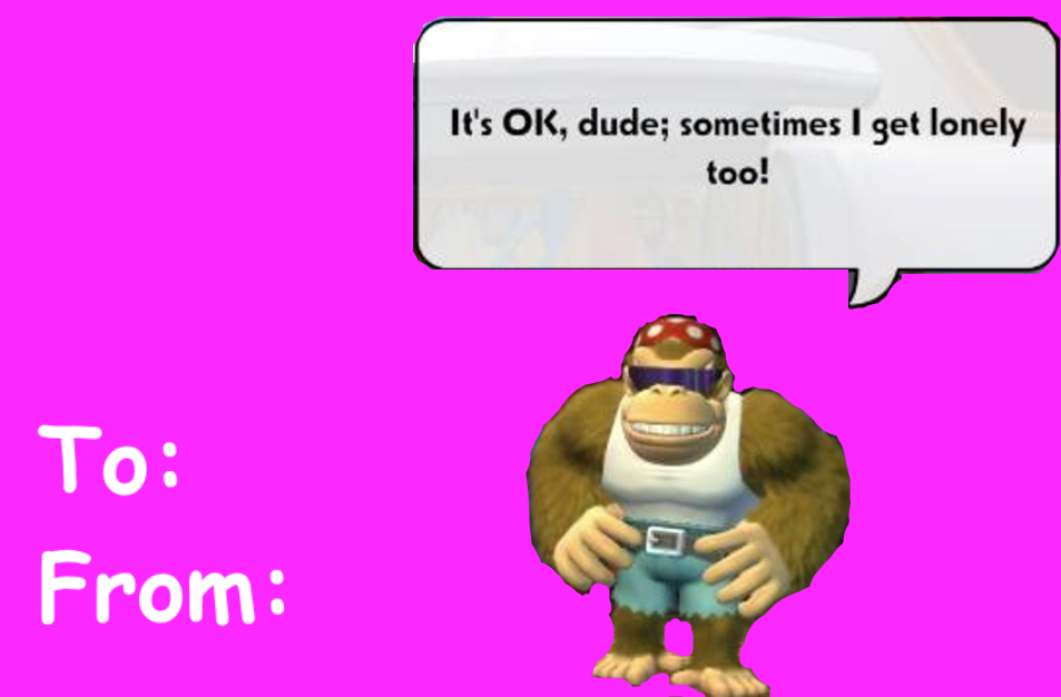Funky Kong | Valentine's Day E-cards | Know Your Meme
