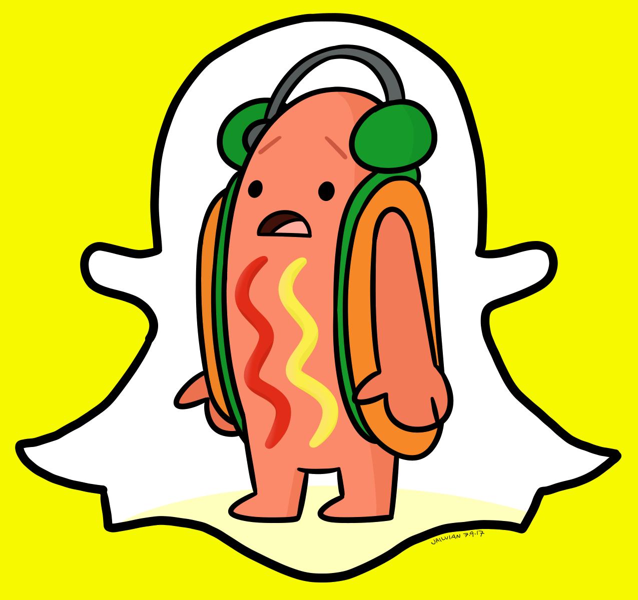 Snapchat Hotdog Meme Fanart   Dancing Hot Dog Snapchat ...
