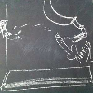 Dick on a Chalkboard