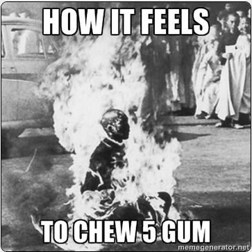 how it feels to chew 5 gum dildo