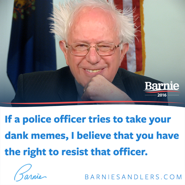 Barnie Sandlers: Resist The Dank Oppression | Bernie ...
