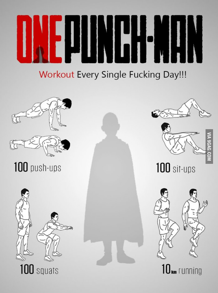 One-Punch Man workout!   One-Punch Man   Know Your Meme
